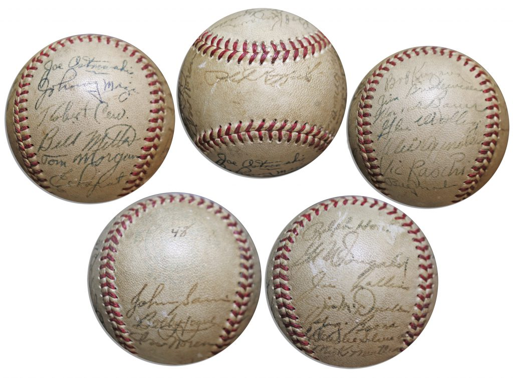 1931 New York Yankees Team Signed Baseball