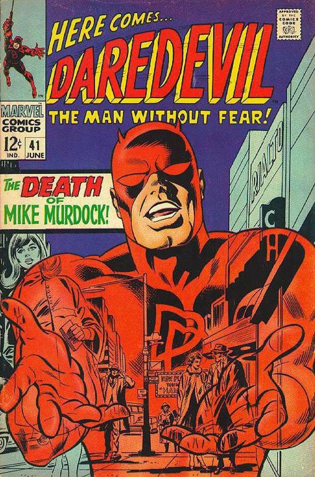 Gene Colan Frank Giacoia Daredevil cover comic art