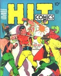 Lou Fine Hit Comics cover comic art