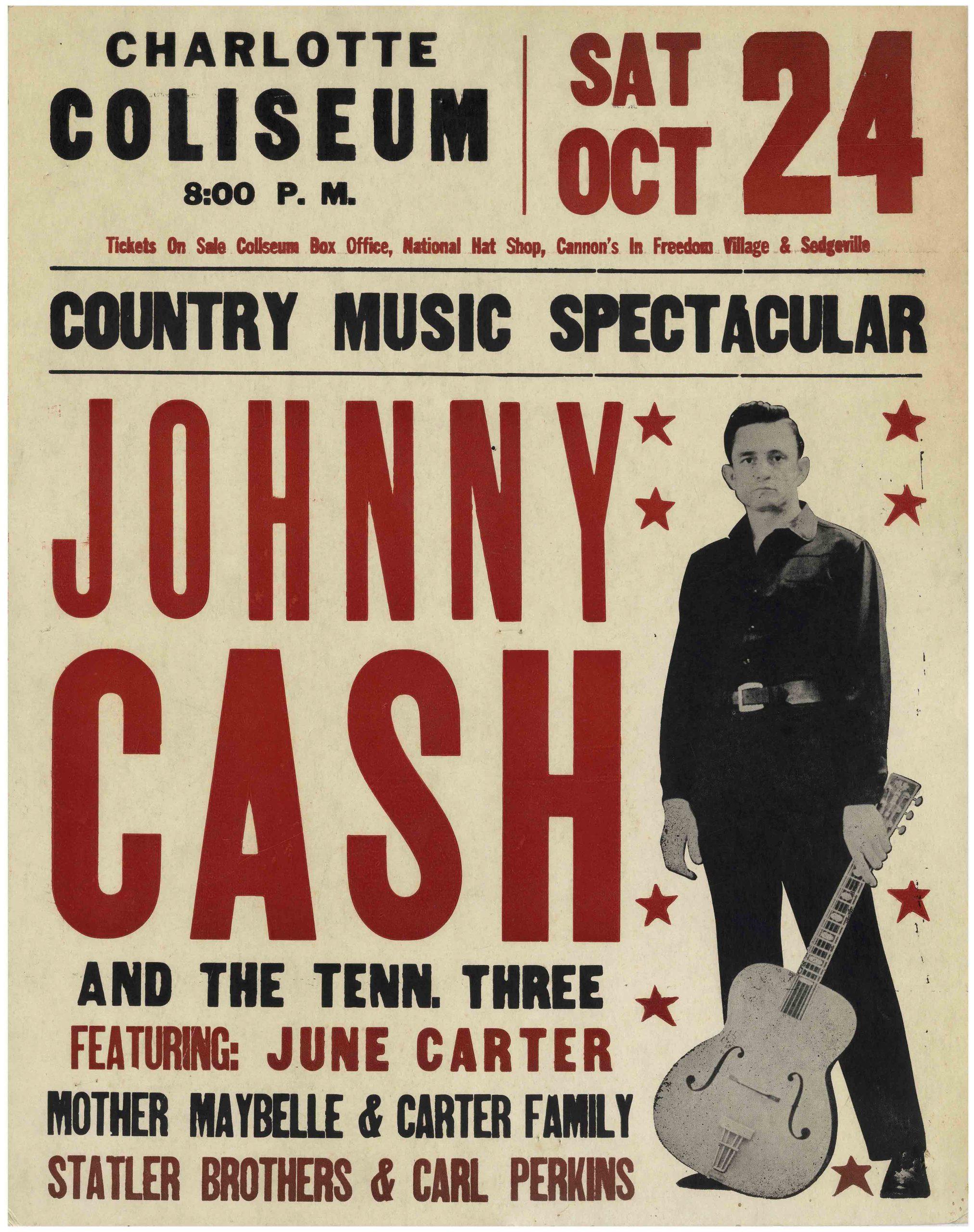 Sell an Original Vintage Johnny Cash Poster at Nate D Sanders Auction